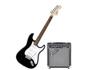chitarra per principianti con amplificatore