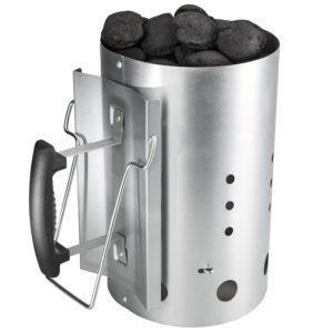 ciminiera per accendere il barbecue velocemente