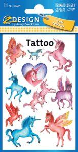 tatuaggi trasferelli unicorni