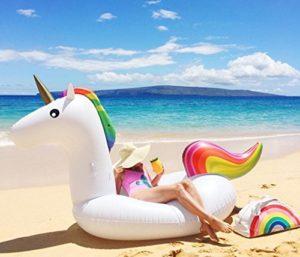 unicorno gonfiabile da spiaggia