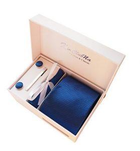 elegante set cravatta e gemelli