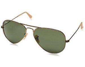 occhiali da sole a goccia rayban aviator
