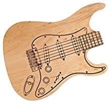 tagliere a forma di chitarra elettrica