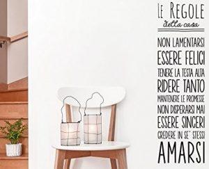 wall sticker le regole della casa
