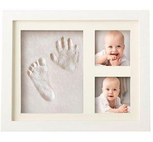 portafoto con impronte mani e piedi bambini