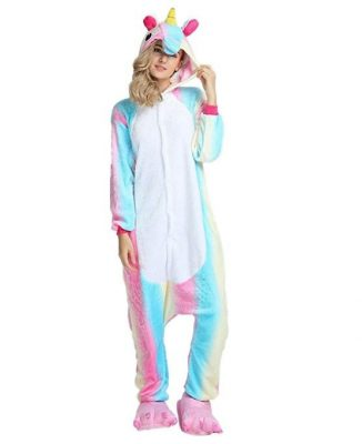 pigiama da unicorno color arcobaleno