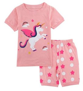 pigiama estivo a tema unicorni