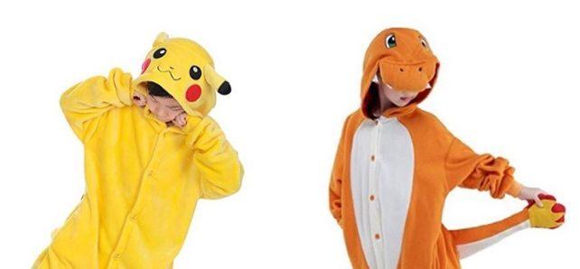 pigiama pikachu e charmander bambini