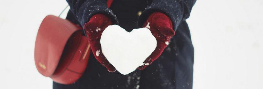 cuore di neve regalo san valentino per lei