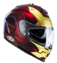 casco integrale moto colorazione iron man